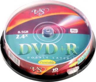 Диски DVD+R DL 8,5GB 8X VS CB/10 Printable