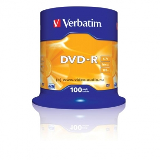 Verbatim DVD-R диски 4,7GB 16X CB/100