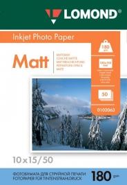 Фотобумага Lomond 10x15 180 г/м2 матовая 50 листов