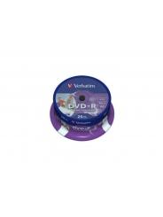 Verbatim DVD+R диски 4,7GB 16X Cake/25 Full ink printable