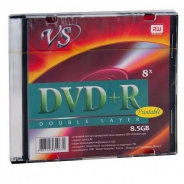 Диск DVD+R DL VS 8,5GB 8X Printable SLIM/1