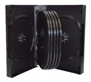 Коробка для 12-ти дисков DVD box чёрная глянцевая