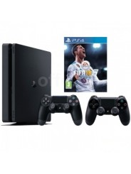 Sony PlayStation Slim 500Gb + 2-й джойстик DualShock + FIFA 18