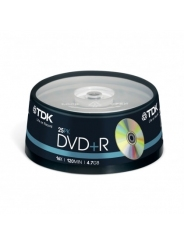 Диски TDK DVD+R 4,7GB 16X Cake/25