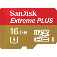MicroSD 16GB  SanDisk Class 10 Extreme PLUS 95MB/s + SD адаптер