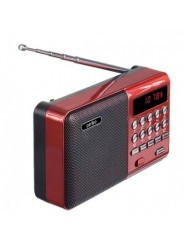 Perfeo радиоприемник цифровой PALM FM+ 87.5-108МГц/ MP3/ питание USB или 18650/ красный (i90-BL) PF_A4871