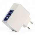 Зарядное устройство SmartBuy QUATTRO 220V-> USBx4