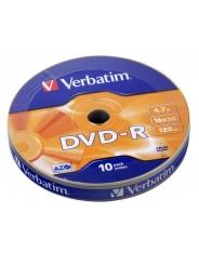 Verbatim DVD-R диски 4,7GB 16X Shrink/10
