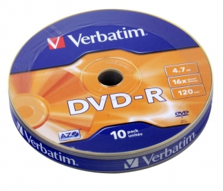 Verbatim DVD-R диски 4,7GB 16X Shrink/10