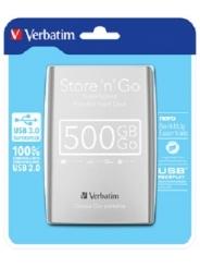 VERBATIM 2.5 HDD 500 GB USB 3.0 STORE'N'GO SILVER