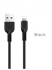 Кабель для Apple 8-pin - USB, 1.0м HOCO X13, черный, 2.4A (Х13 Apple black)