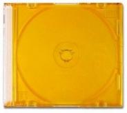 Коробка для диска CD slim цветная жёлтая