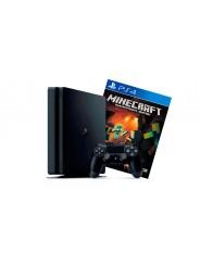 PlayStation 4 Slim 500Gb игровая приставка с игрой Minecraft