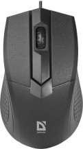 Мышь проводная DEFENDER MB-270 Black, USB (52270)