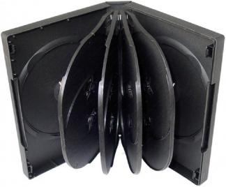 Коробка для 10-ти дисков DVD box чёрная глянцевая