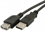 PERFEO Кабель USB2.0 A вилка - А розетка, длина 1 м.