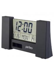 "Perfeo Часы-будильник ""City"", чёрный, (PF-S2056) время, температура, дата"
