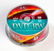 Диски VS DVD+RW 4,7GB 4X Cake/25