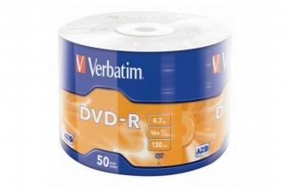Verbatim DVD-R диски 4,7GB 16X Shrink/50 Data life