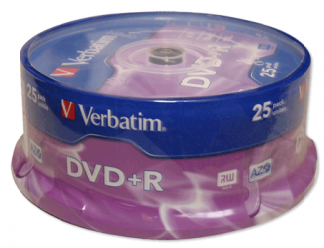 Verbatim DVD+R диски 4,7GB 16X CakeV/25