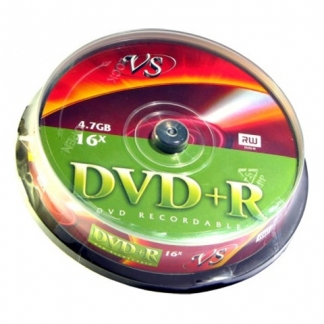 Диски VS DVD+R 4,7GB 16X Cake/10