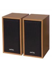 """Perfeo колонки """"CABINET"""" 2.0, мощность 2х3 Вт (RMS), бук дерево, USB"""
