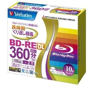 Blu ray диск VERBATIM BD-RE DL 50 GB 2X Slim case
