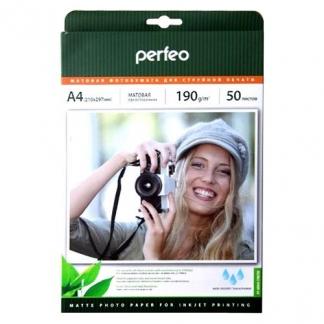 Фотобумага Perfeo A4 190 г/м2 матовая 50л