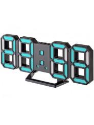 "Perfeo LED часы-будильник ""LUMINOUS 2"", чёрный корпус / синяя подсветка (PF-6111)"