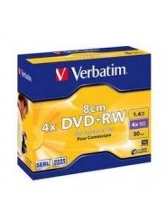 Диск для видеокамеры Verbtim DVD+RW 8 cm 1,4GB 4X 30 min Jewel case