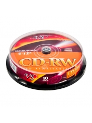 CD-RW диски VS 700MB 12X CB/10