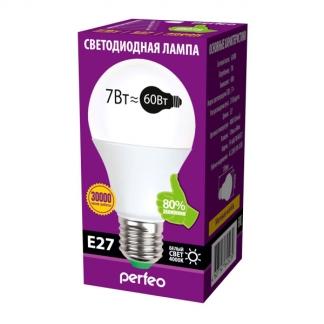 Perfeo светодиодная (LED) лампа PF-A60 7W 220V 4000K E27