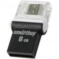 Накопитель USB/microUSB Flash 8Gb SmartBuy POKO Black OTG USB 2.0