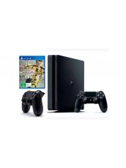 PlayStation 4 Slim 1Tb игровая приставка, 2 джойстика и игра FIFA 17