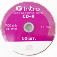 Intro CD-R диск 700mb 52x Shrink/10