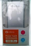 Внешний аккумулятор Intro Power Bank 6000 mAh Silver