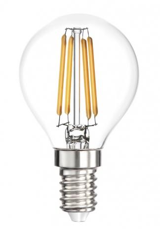 Лампа светодиодная SMART BUY P45-5W-220V-3000K-E14 FIL