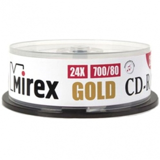 Mirex диски CD-R GOLD 700MB 24X CB/25