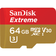Карта памяти MicroSD 64GB  SanDisk Class 10 Extreme UHS-1 V30 90MB/s