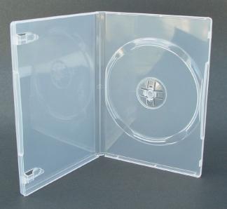 КОРОБКА ДЛЯ ДИСКА DVD BOX 14 MM CLEAR ПРОЗРАЧНАЯ ГЛЯНЦЕВАЯ