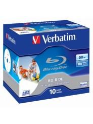 Blu-Ray диск Verbatim BD-R DL 50Gb 4x Printable Slim Case