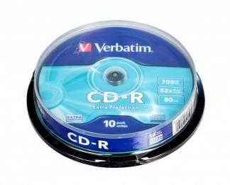 Verbatim CD-R диски 700MB 52X CB/10