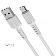 Кабель USB 2.0 -- micro USB, 1.0м HOCO Borofone BX16, белый, 2A (BX16 micro white)