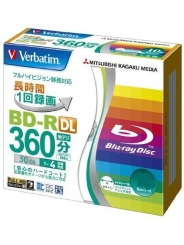 Blu-Ray диск Verbatim BD-R DL 50Gb 4x Printable Slim Case