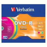 Verbatim DVD-R диски 4,7GB 16X Slim/5 color
