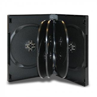 Коробка для 8-ми дисков DVD box чёрная глянцевая
