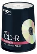 TDK CD-R диски 700MB 52X CB/100