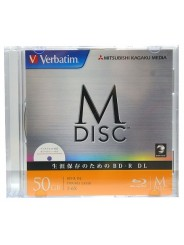 M-Disc Verbatim BD-R XL 50 GB 6x Ink Printable Slim case