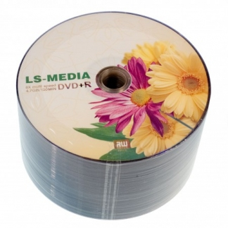 Диск LS-MEDIA DVD+R 4,7Gb 16x bulk 50 «Цветы» Герберы