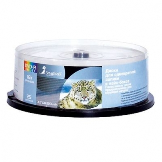 Диск DVD-R SmartTrack 4,7Gb 16x Printable cake 25